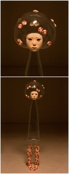 Jin Young Yu, A Family in Disguise (Child 7), 2008, pvc, mixed media