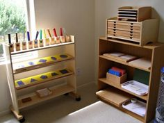a montessori homeschool set up