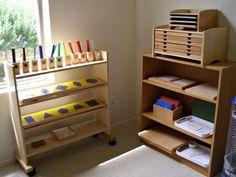 a montessori homeschool set up