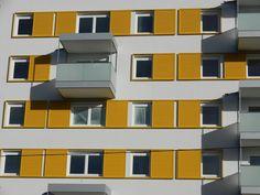 Schiebeläden Multi Story Building, Solar Shades