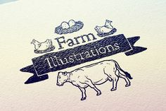 Check out +40 Farm Illustrations by Salih Gonenli on Creative Market