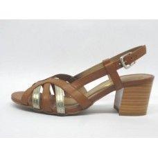 Sandália em couro Caramelo/Prata Velho. La Vile Calçados em couro legítimo. Calçados que produzimos através de encomendas do nº 30 ao nº 33 www.lavile.com.br