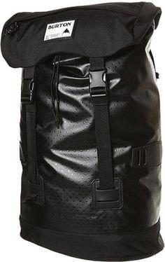 Burton Tinder Backpack - 25L Mesh Leather Luggage Travel Black