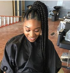 270 Best Cornrow Ponytail Images In 2019 African Braids Girls