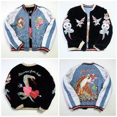 Vintage KOSHO Tailor Toyo RETURN FROM HELL Roaring Tiger Tora Cobra Snake Hebi DEATH BEFORE DISHONOR Seppuku Souvenir Velveteen Embroidery Sukajan Jacket - Japan Lover Me Store