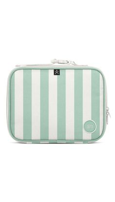 Hadley Lunch Bag - Ocean Candy Stripes – Minibrook Candy Stripes, Hadley, Mini Me, Velcro Straps, Stripes Design, Safe Food, Snug Fit, Pink And Green, Cleaning Wipes