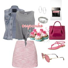 cupcake by fromphilly on Polyvore featuring polyvore, fashion, style, Vero Moda, maurices, Topshop, Michael Kors, Alexandra de Curtis, Whistles and Burberry