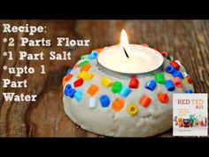 Salt Dough Votive - Quick and Easy! - Red Ted Art's Blog