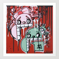 Graffiti Style Character Stay Hungry For Love & Money Art Print by Adam Valentino - $17.68 Art Prints, Graffiti, Photo, Art For Sale, Art, Character, My Arts, Comics