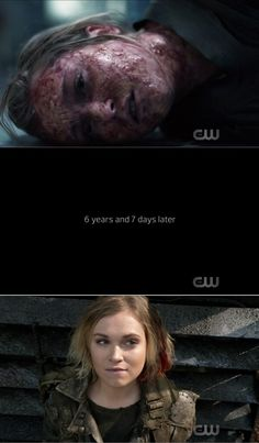 """""""Praimfaya"""" - Clarke I wish the script writers would explain how she is still alive, cuz from the first pic it looks like the nightblood was ineffective at preventing radiation sickness The 100 Tv Series, The 100 Serie, The 100 Cast, The 100 Show, Lexa The 100, The 100 Clexa, Bellarke, Movies Showing, Movies And Tv Shows"""