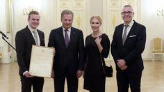 Presidentti Niinistön kansainvälistymispalkinnot saivat Slush, Serres ja Vahterus.
