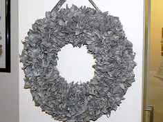 Military ABU wreath... So making this! and i will hanging it proudly even when cole is out the navy ( which is soon)