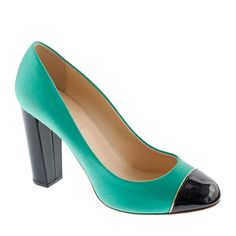 Etta cap toe satin pumps - J Crew