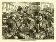 Absinthe Poster of the Graphic 1872 - Absinthe Drinkers; original poster size 22 x Absinthe Drinker, William Hogarth, New Yorker Cartoons, Art Prints For Sale, Large Art, Stretched Canvas Prints, Frames On Wall, Vintage Ads, Art Gallery