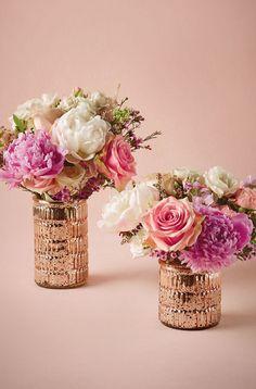 Rose gold vases @BHLDN