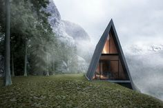 This Triangular House Perched Atop a Cliff Is the Perfect Alpine Getaway
