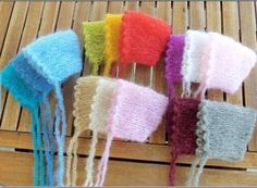 Handcraft Baby hand Knit Mohair Bonnet  on Baby Shower Gift,Baby Photography Props   Baby hats