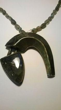 Christmas gift .pyramiding labradorite pendant. by MegaronJewelry