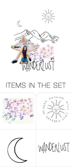 """""""#wanderlust"""" by nudenim ❤ liked on Polyvore featuring art, Collage and artset"""