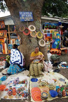 Beautiful Tanzanian women selling their wares