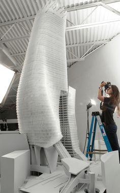 MORPHOSIS [STUDIO] The Phare Tower Welded aluminum, acrylic and high density foam (Aluminio soldado , acrílico y espuma de alta densidad)