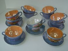 Hey, I found this really awesome Etsy listing at https://www.etsy.com/listing/111441158/antique-lusterware-15-piece-1940s