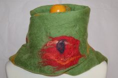 Hey, I found this really awesome Etsy listing at https://www.etsy.com/listing/244182030/green-felted-merino-wool-scarf-or-wrap