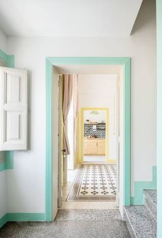 friday finds. Powder Room Sink, Sfgirlbybay, Window Trim, Funky Bedroom, Faux Wainscoting, Bohemian Modern Style, Interior Details, Green Windows, Living Room Ceiling