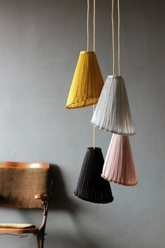 These beautiful and unique pendant lights made of fine porcelain are brought in from one of our artisans in Buenos Aires. They are wired for track, but can be easily hard wired directly into the ceili