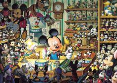 【引上品】◆希少品◆1000ピースジグソーパズル:ミッキーのおもちゃ工房《廃番商品》 - 組絵門(くみえもん)