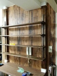 おうちCafeインテリア計画〜プチプラ商品のリメイクDIY!!〜: ディアウォールで棚作り!! #interior#diy#wood#ディアウォール#インテリア#リメイク