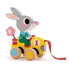 Djeco / Roulapic Wooden Rabbit Racer Pull Toy in Toys & Hobbies, Preschool Toys & Pretend Play, Fisher-Price Baby Toys, Kids Toys, Pull Along Toys, Wooden Rabbit, Rabbit Toys, Bunny Rabbit, Pull Toy, Electronic Toys, Wood Toys