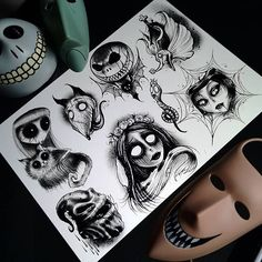 Nightmare before Christmas tattoo Future Tattoos, Love Tattoos, Body Art Tattoos, Small Tattoos, Kritzelei Tattoo, Piercing Tattoo, Piercings, Dark Art Drawings, Tattoo Drawings