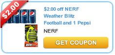 $2.00 off NERF Weather Blitz Football and 1 Pepsi