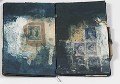Glen Skien sketchbook -Pressing Matters - drypoint/collage, drawing, and mixed media