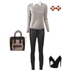 """""""Leather Twist"""" by vfriedman on Polyvore"""