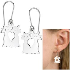 Cat Love Sterling Earrings at The Animal Rescue Site