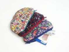 Zip Coin Purse Set of 3 Liberty Print Stocking Stuffers, Little Something Gifts   Pinned with <3 by Yoga Philosophy