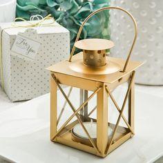 Love Lights The Way Luminous Lantern in a Matte Gold Finish, Gold Decorative Lantern Favors, Bridal Shower Centerpieces, Bridal Shower Favors, Floral Centerpieces, Table Centerpieces, Gold Lanterns, Candle Lanterns, Wedding Lanterns, Rustic Lanterns, Wedding Favors Unlimited
