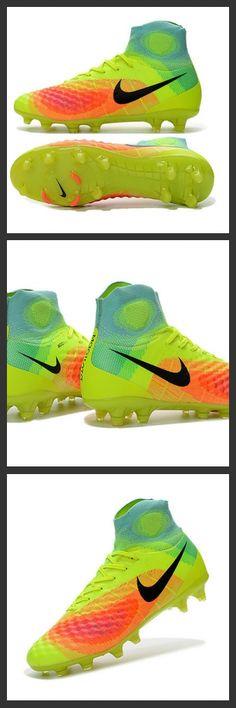 Nuove Scarpe FG da Calcio Per Terreni Nike Magista Obra 2 FG Scarpe Verde   901aa9