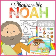 Obedience like Noah Bible Printables! Free Christian Preschool Curriculum and resources for Children's Ministiry. Noah's Ark Bible Coloring Pages, Scripture Memory Tools, BINGO and more! Christian Preschool Curriculum, Preschool Bible Activities, Preschool Printables, Preschool Activities, Religion Activities, Church Activities, Noahs Ark Craft, Noahs Ark Theme, Bible Study For Kids