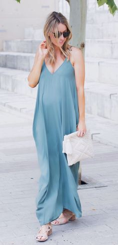 #summer #outfits Favorite. Maxi. Ever. Tip: Wear It With A Strapless Bra, Or For Even More Comfort Pair It With A Fun Bralette (this Way The Girls Won't Show As Much ) Remember This Dress Runs Big So Size Down!