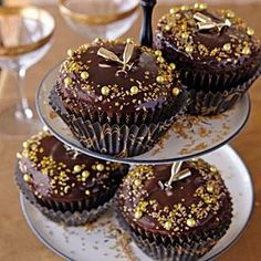 New Year's Cupcakes | MyRecipes.com
