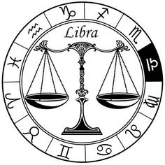 Illustration of libra astrological horoscope sign in the zodiac wheel. Black and white vector illustration vector art, clipart and stock vectors. Signo Libra, Zodiac Signs Aquarius, Horoscope Signs, Libra Art, Tarot, Libra Sign Tattoos, Aquarius Constellation Tattoo, Libra Symbol, Tattoo Coloring Book