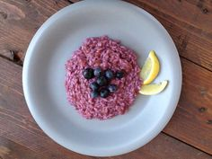 #Risotto con #mirtilli #rice with #blueberries