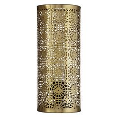 Buy John Lewis Eila Brass Cutwork Table Lamp Online at johnlewis.com