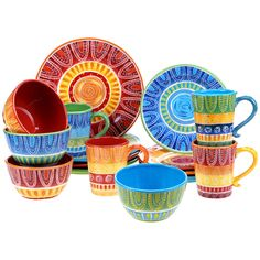 Youu0027ll love the Sprinkle 16 Piece Dinnerware Set at Wayfair - Great Deals on  sc 1 st  Pinterest & Mexicali Dinnerware | Kitchen | Pinterest | Dinnerware Haciendas ...