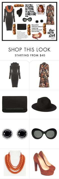 """""""Sem título #275"""" by criscaruccio ❤ liked on Polyvore featuring Warehouse, STELLA McCARTNEY, Christian Louboutin, Thomas Sabo and Elizabeth and James"""