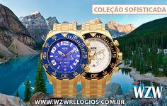 *COLEÇÃO SOFISTICADA* Relógios com pulseira em aço com pintura injetável. Uma peça incrivel para nenhum amante de relógios botar defeito. Conheça nossa coleção sofisticada completa através do nosso site: www.wzwrelogios.com.br/linha-sofisticada #WZWRelógios #RelógiosSofisticados #ColeçãoSofisticada #PulseirasemAço #PinturaInjetável #Watches