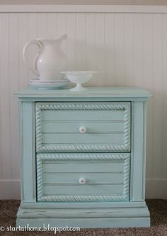 s 30 jaw dropping furniture flips you have to see to believe, painted furniture, Plastic Nightstand Becomes a Real Girl